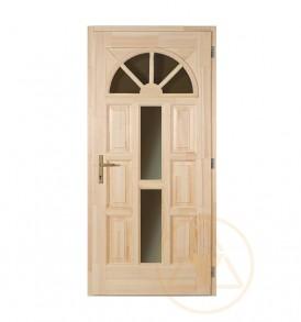 Napsugár középen üveges bejárati ajtó